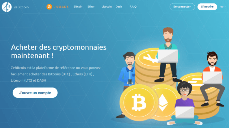 zebitcoin page accueil